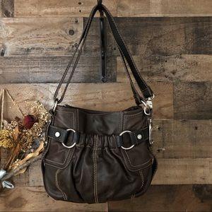 TIGNANELLO leather hand / shoulder satchel brown